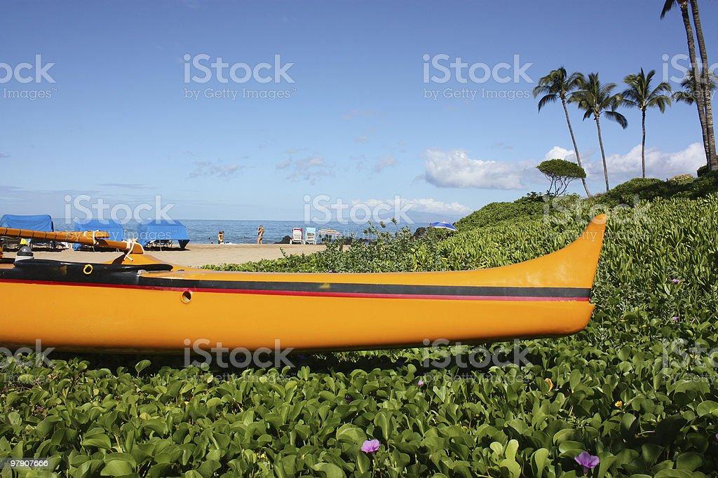 Hawaiian Outrigger royalty-free stock photo