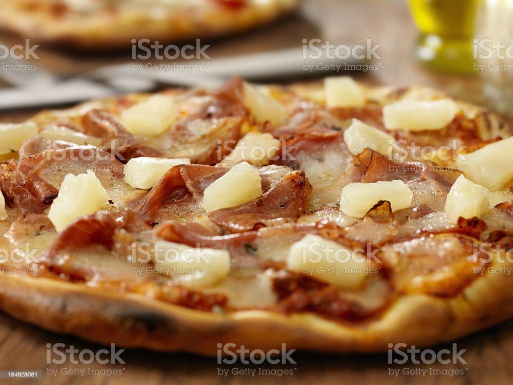 Hawaiian pizza royalty-free stock photo