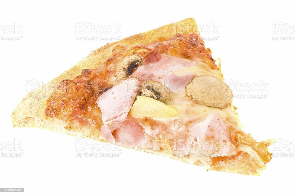 Hawaiian Pizza slice royalty-free stock photo