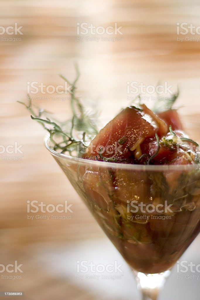 Hawaiian Poke royalty-free stock photo