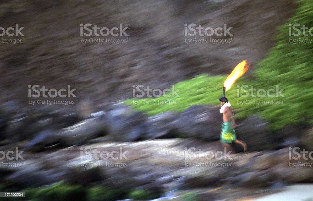 Hawaiian Ritual royalty-free stock photo