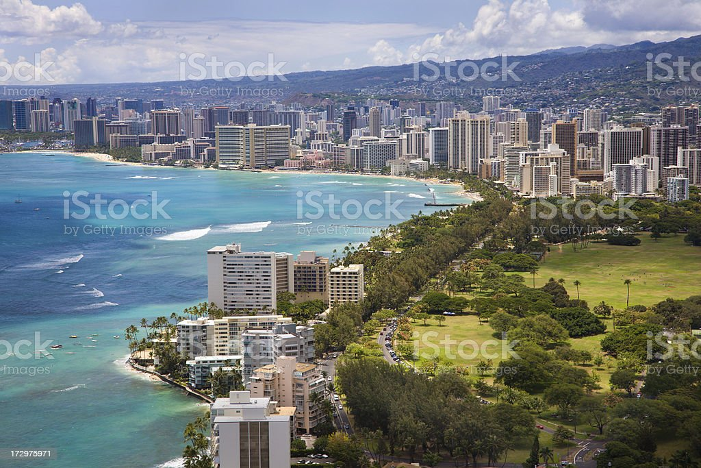 Hawaiian skyline stock photo