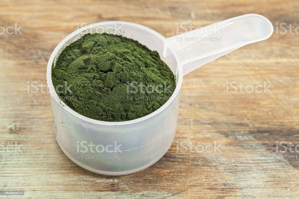 Hawaiian spirulina powder stock photo