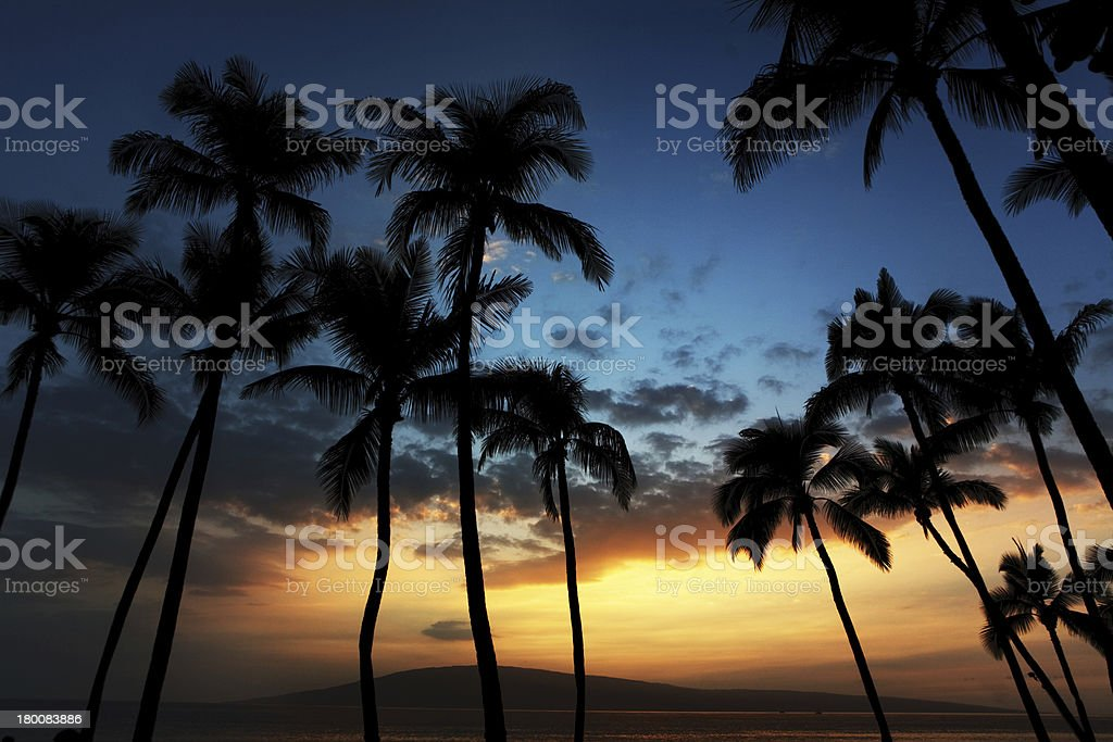 Hawaiian Sunset royalty-free stock photo