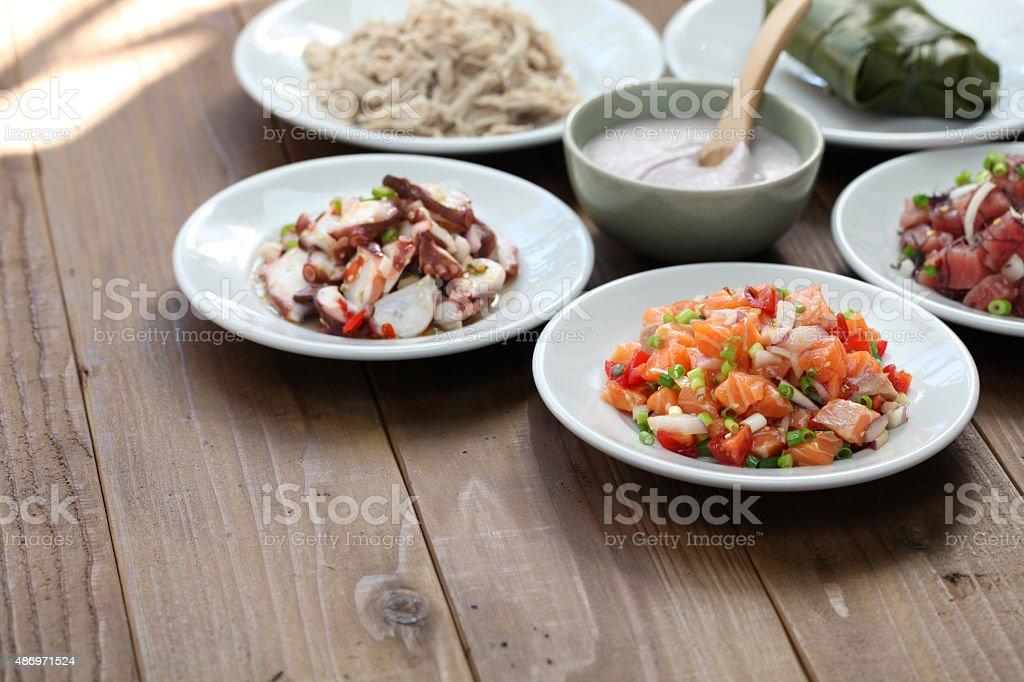 hawaiian traditional food stock photo
