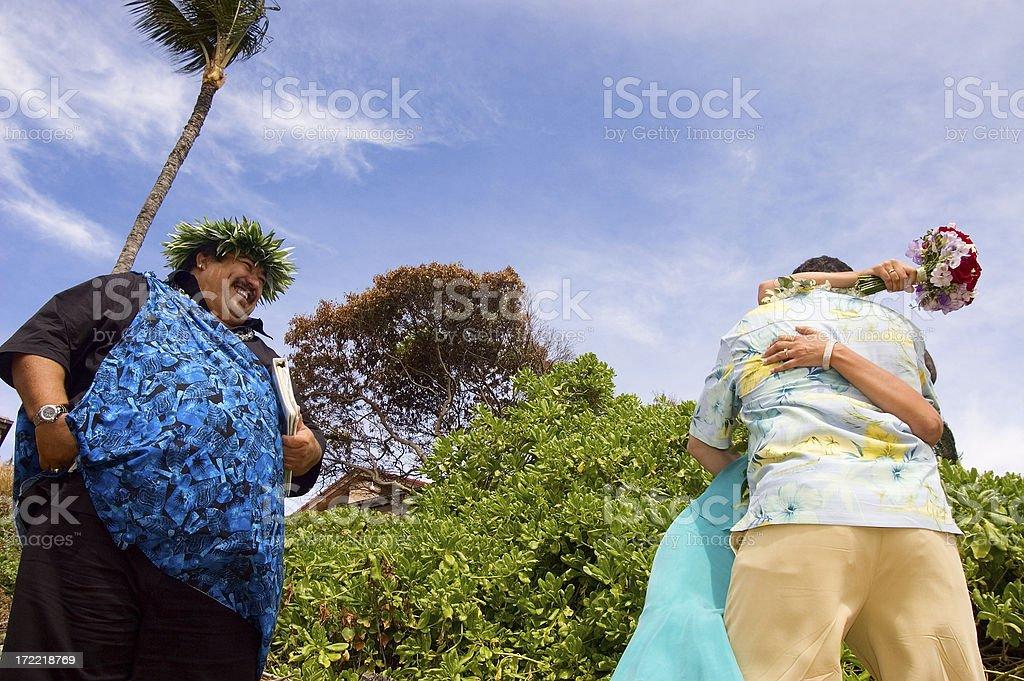 Hawaiian Wedding royalty-free stock photo