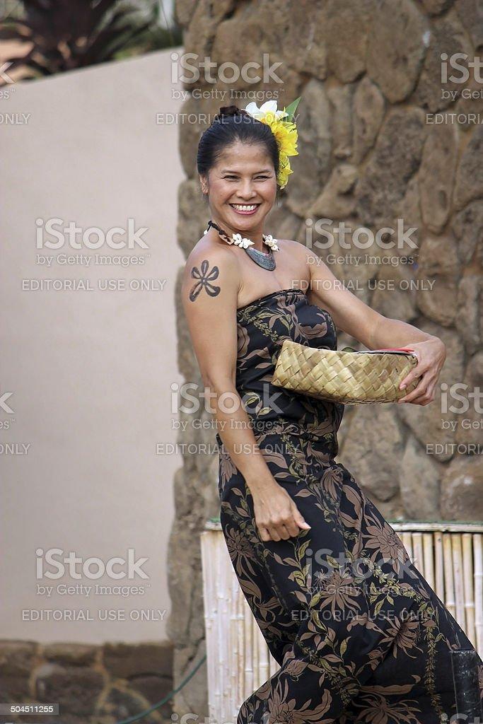 Hawaiian Woman royalty-free stock photo