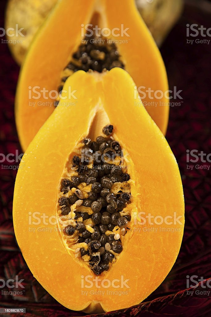 Hawiian Strawberry Papaya royalty-free stock photo