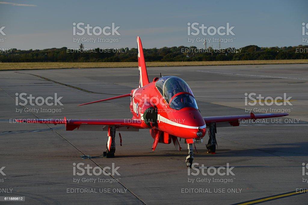 RAF Hawk T1 fighter, U.K. stock photo
