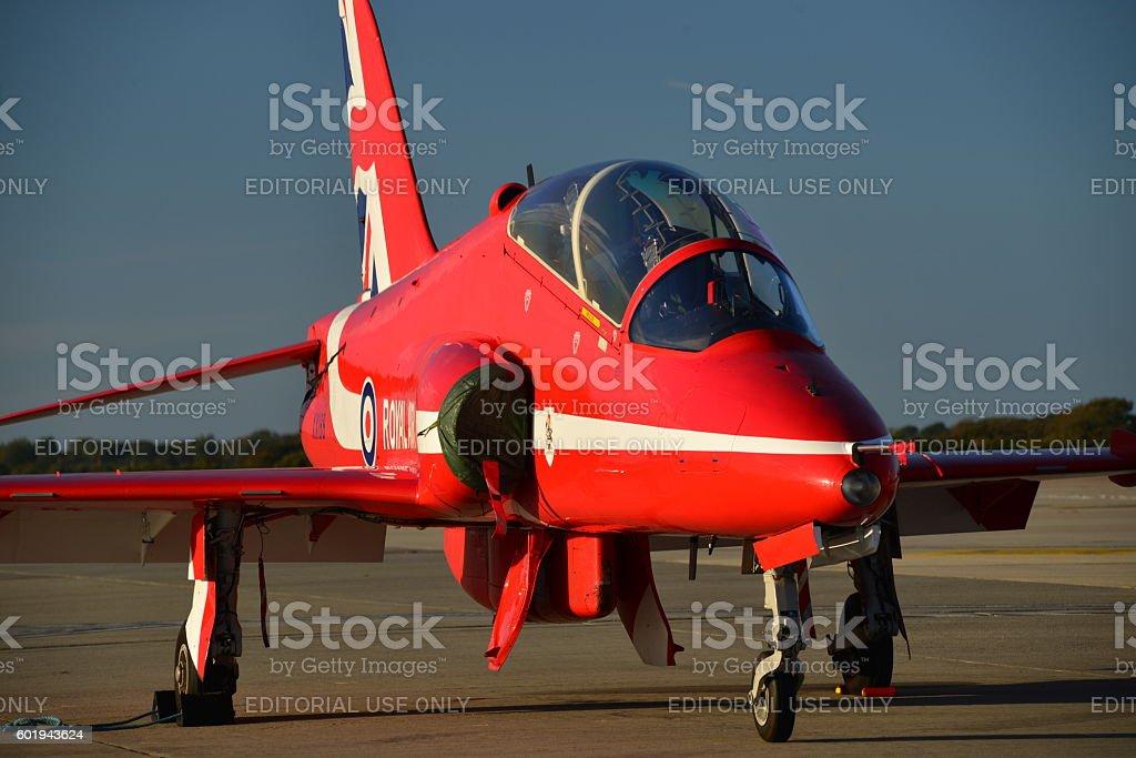 RAF Hawk T1 Red Arrow, U.K. stock photo