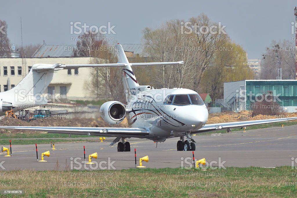 Hawker 850XP Business Jet stock photo