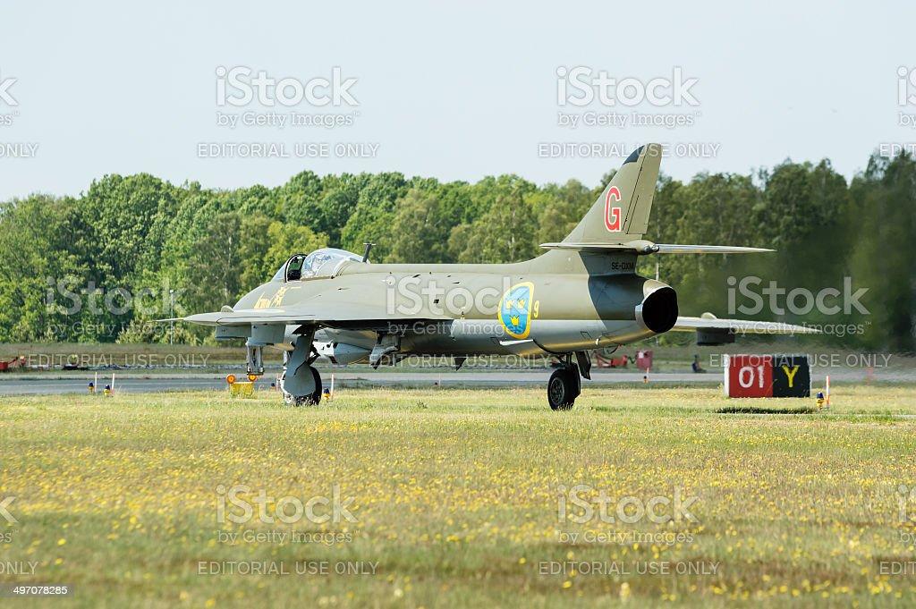 Hawker Hunter royalty-free stock photo