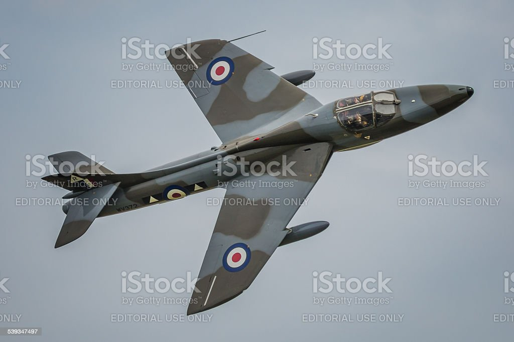 Hawker Hunter T7 - Shoreham fatal accident stock photo