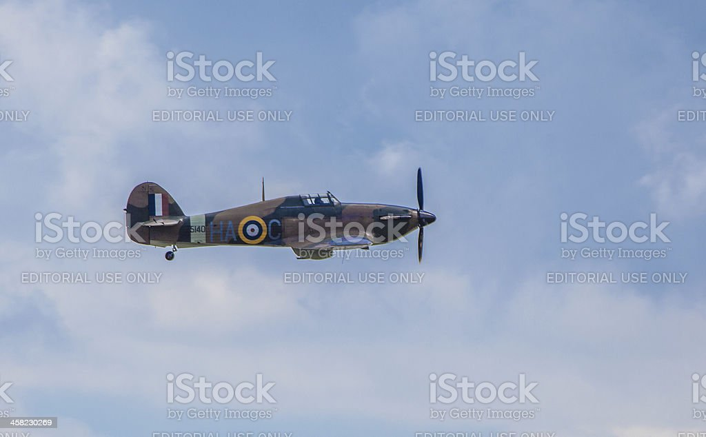 Hawker Hurricane airplane royalty-free stock photo