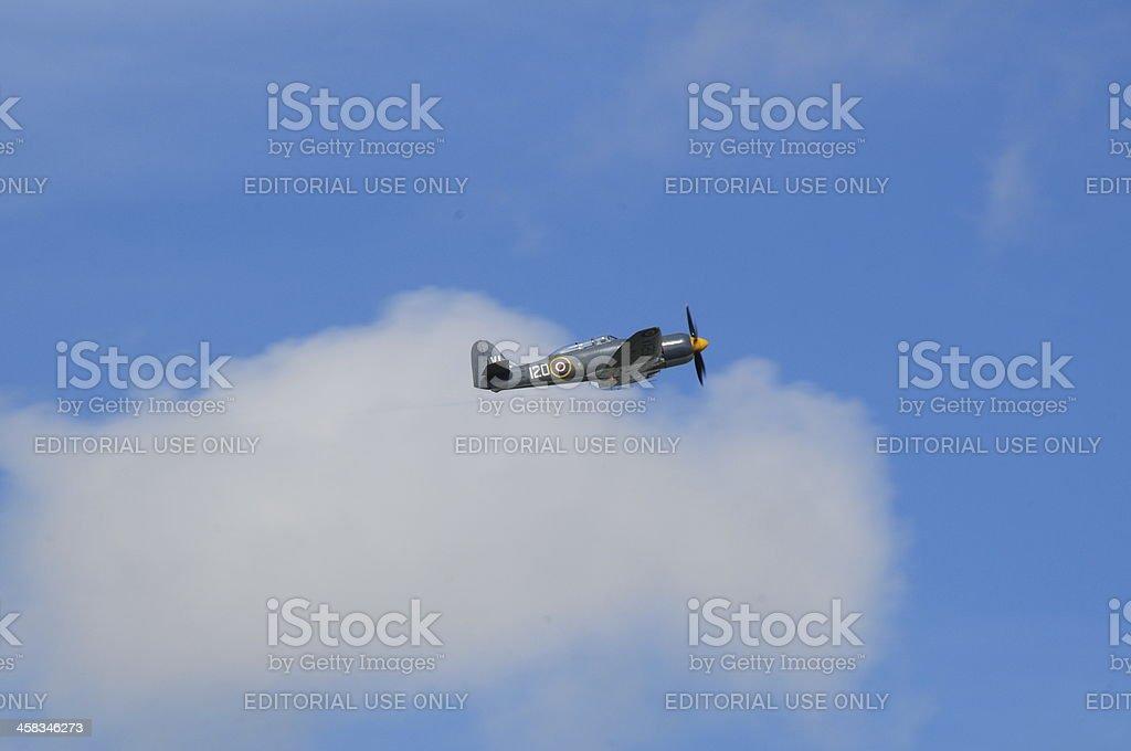 Hawker Sea Fury, U.K. royalty-free stock photo