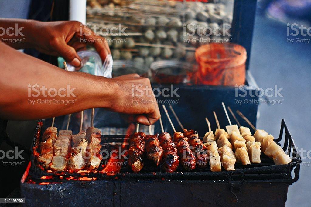 Hawker street food stock photo
