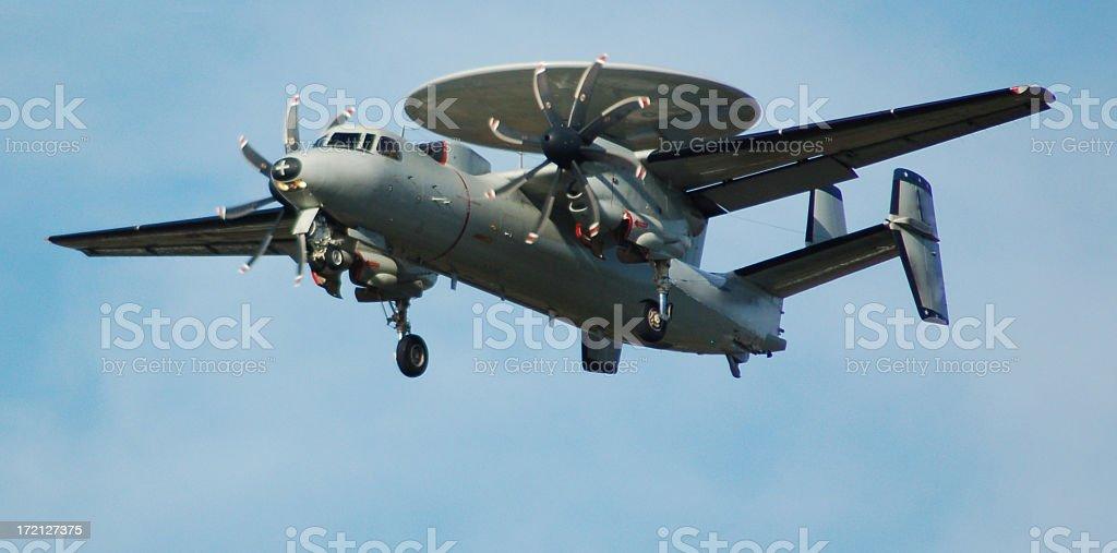 U.S. NAVY E-2C Hawkeye Landing royalty-free stock photo