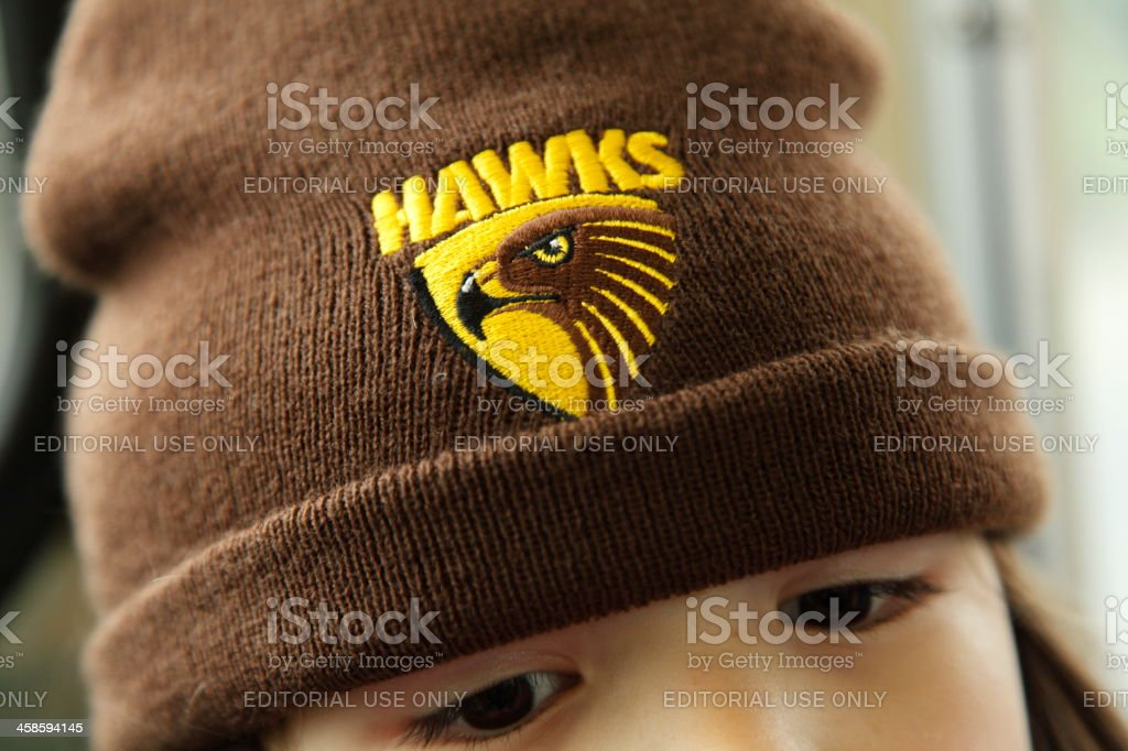 Hawks Supporter royalty-free stock photo