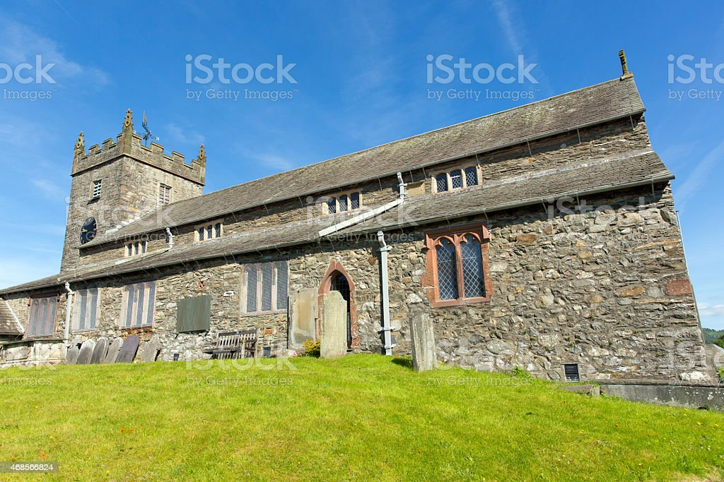 Hawkshead church Lake District Cumbria England UK St Michael stock photo