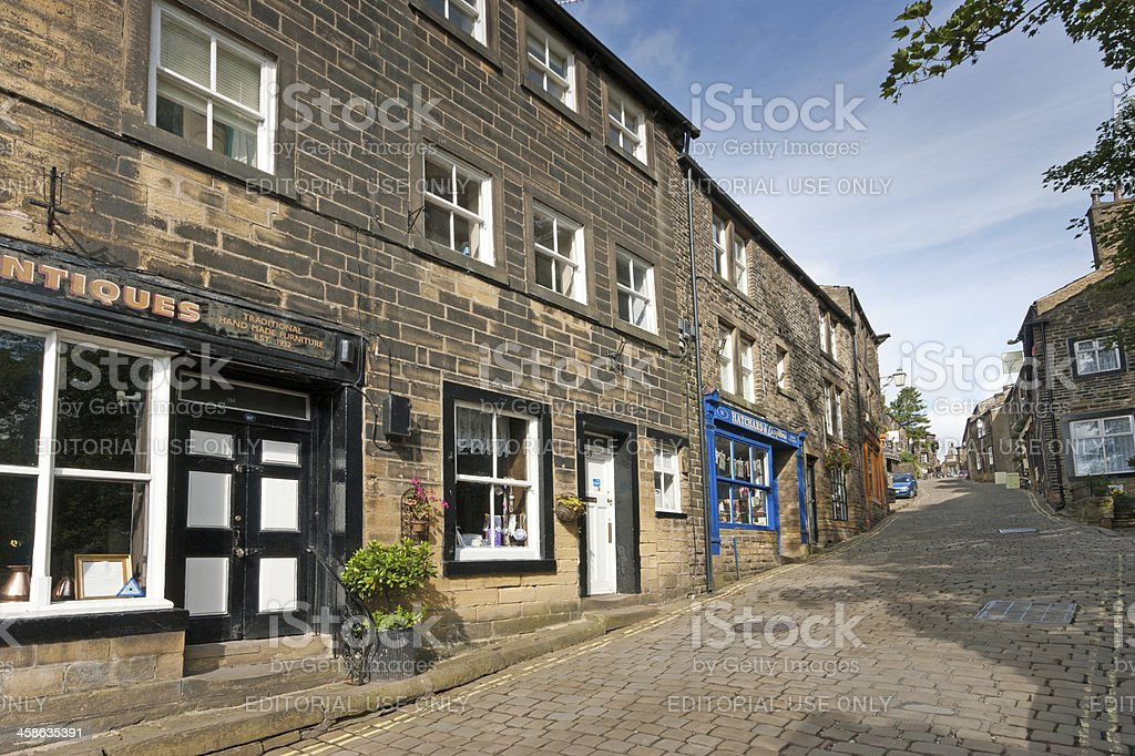 Haworth High Street stock photo