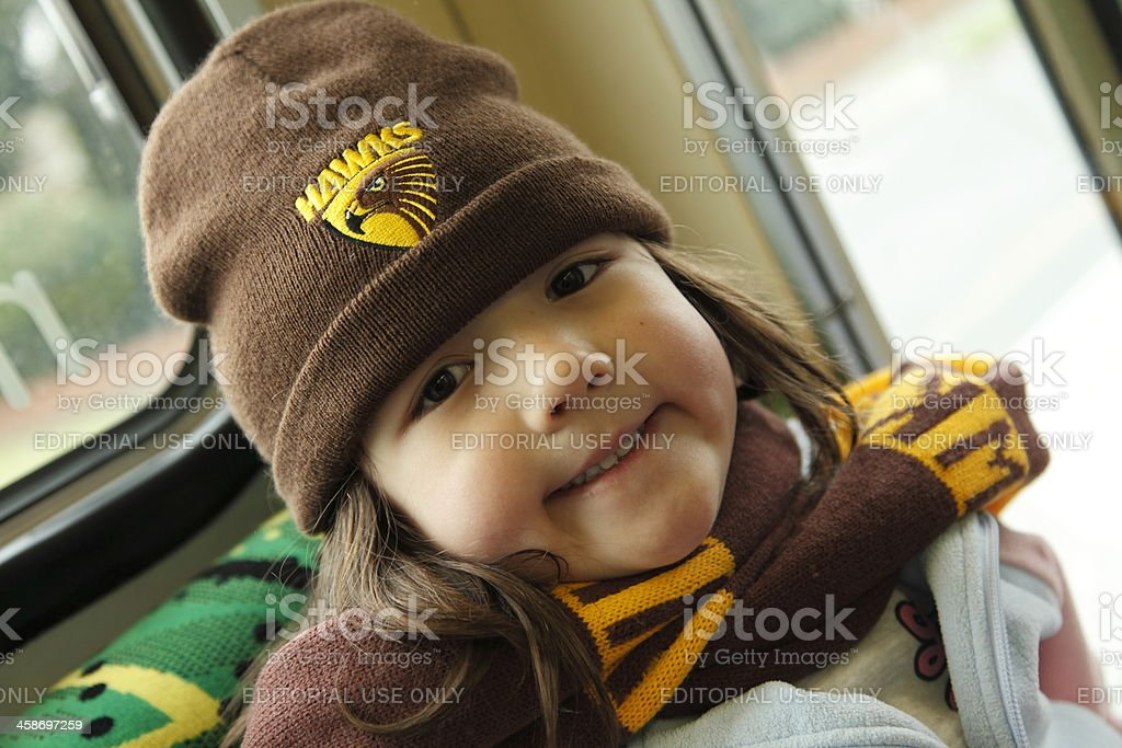Hawthorn Supporter stock photo
