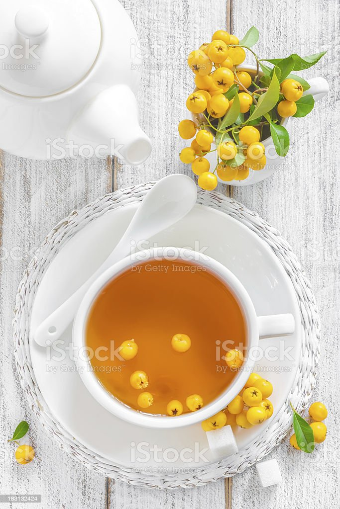 Hawthorn tea royalty-free stock photo
