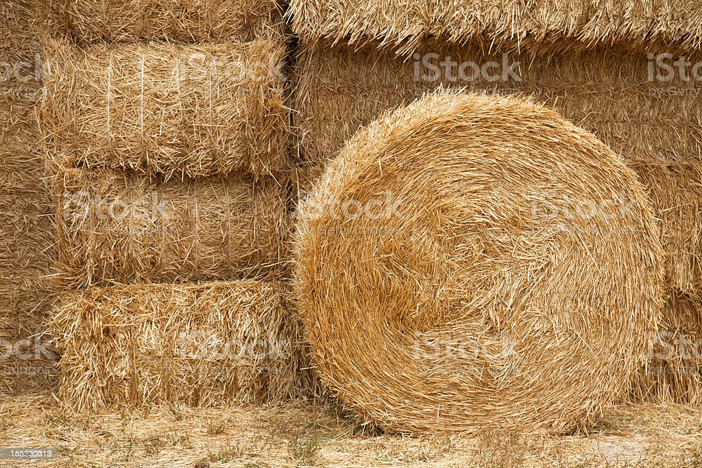 Hay backgrounds stock photo