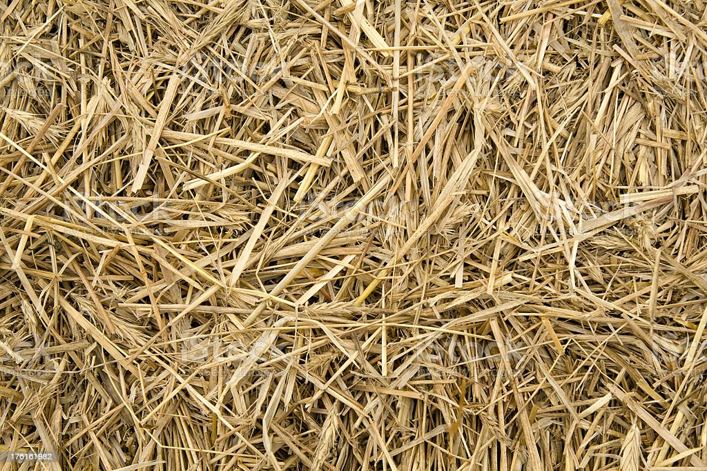 Hay bale as background royalty-free stock photo