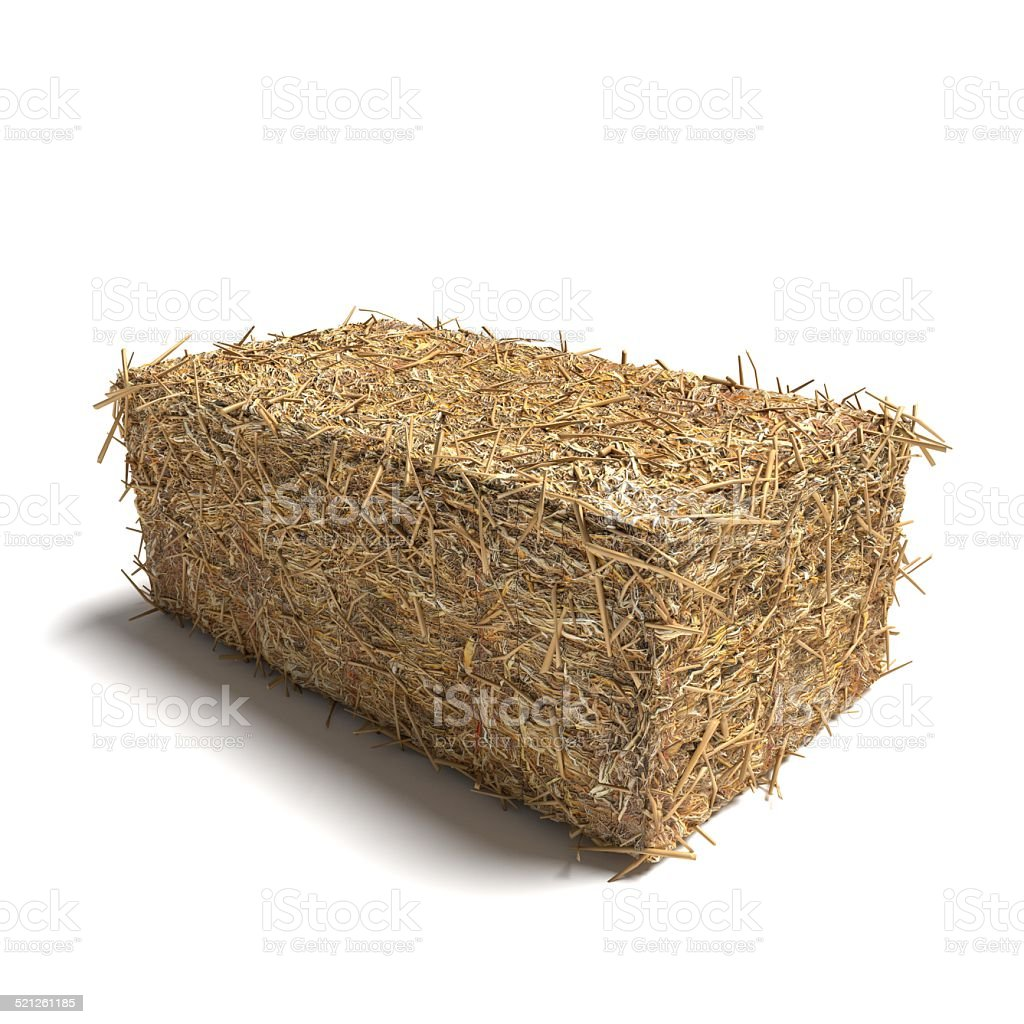 Hay Bale Rectangle stock photo