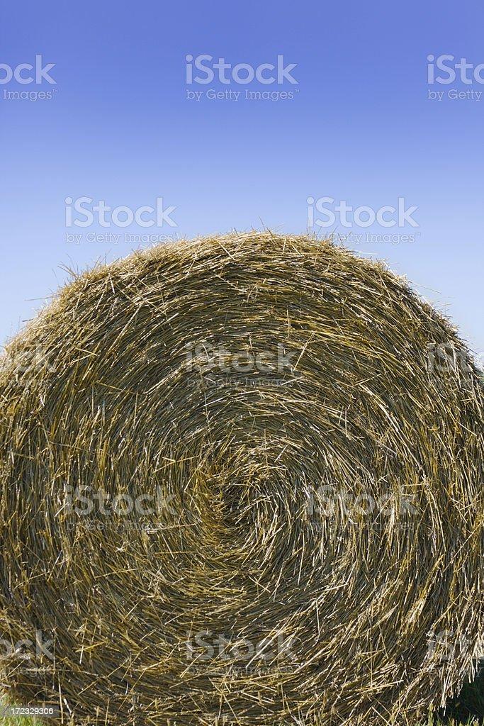 Hay Bale & Sky Vt royalty-free stock photo