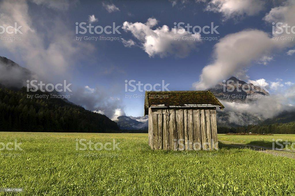 hay barn stock photo