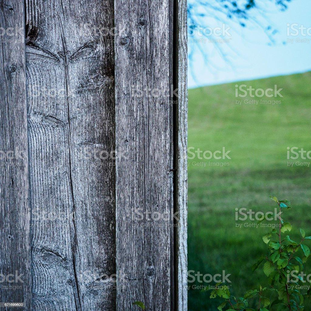 Hay barn wall II stock photo