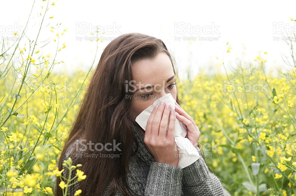 hay fever stock photo