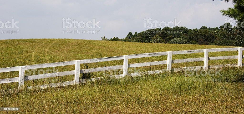 Hay Field Tracks royalty-free stock photo