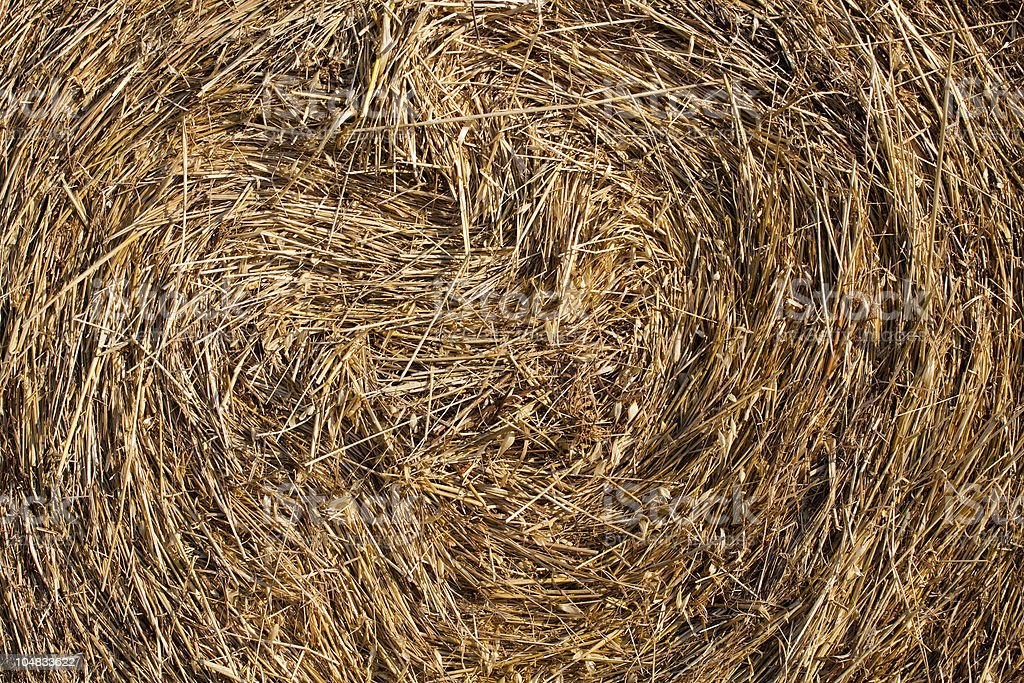 Hay in Full Frame as Background royalty-free stock photo