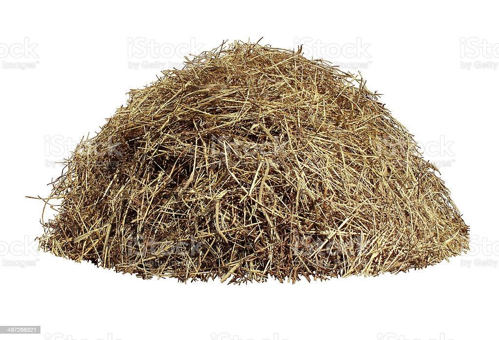 Hay Pile stock photo