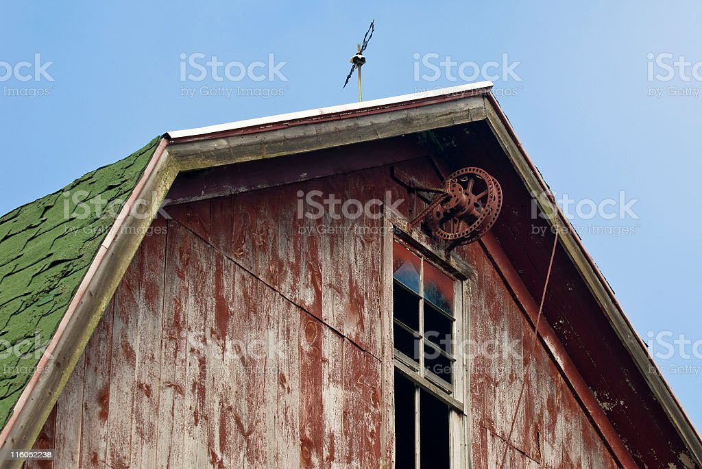 Hay Pulley stock photo