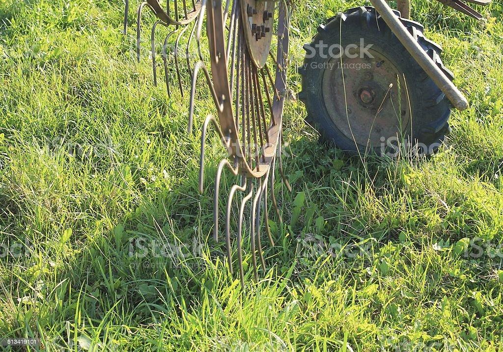 Hay Raker Farm Equipment stock photo