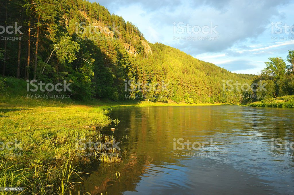 Hay River. Russia, South Ural. stock photo