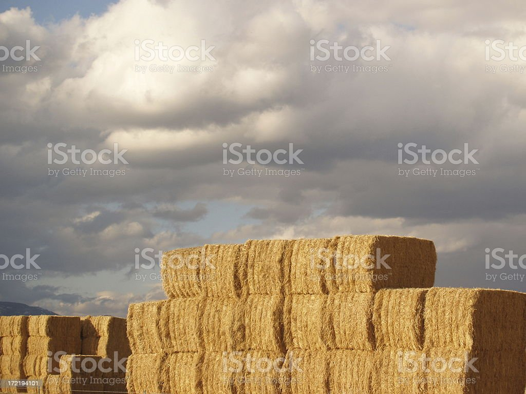 Hay Stack with Cloudscape royalty-free stock photo