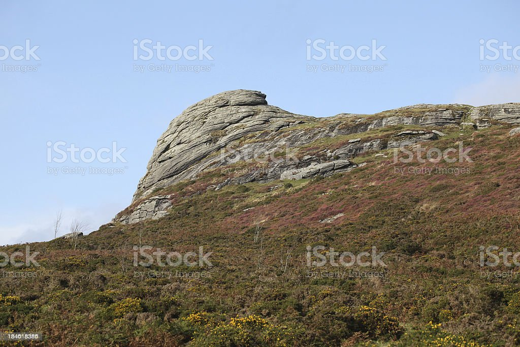 Hay tor dartmoor stock photo