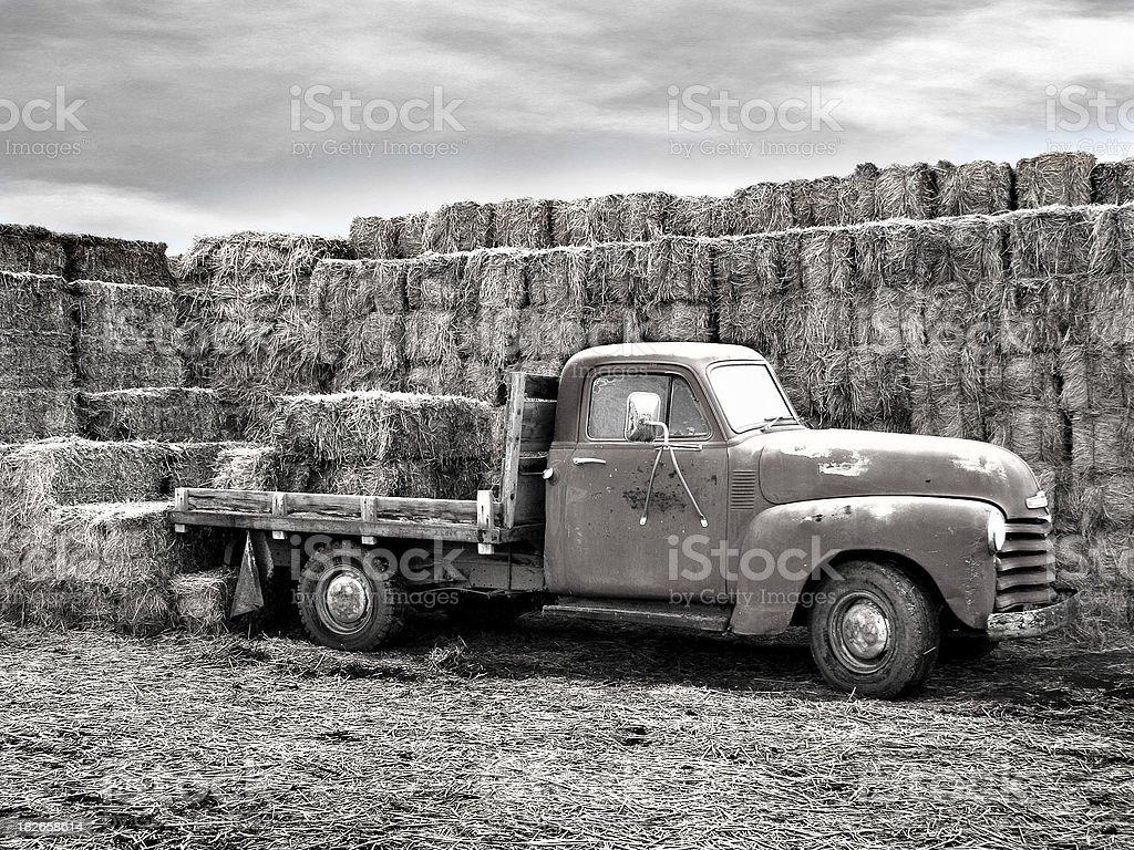 Hay truck. stock photo
