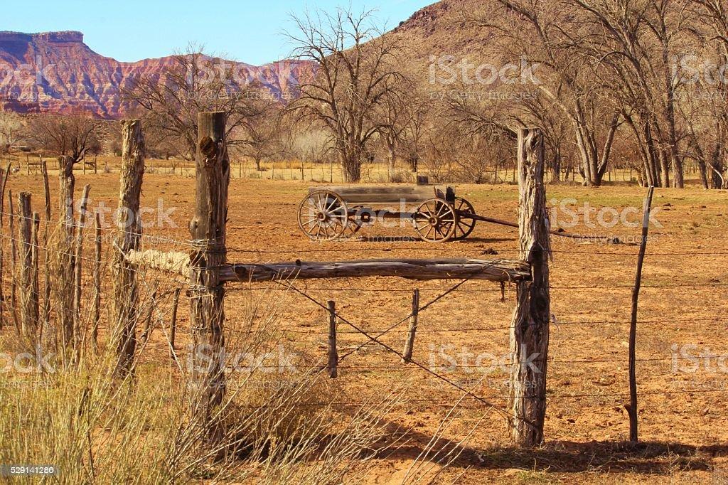 Hay Wagon stock photo