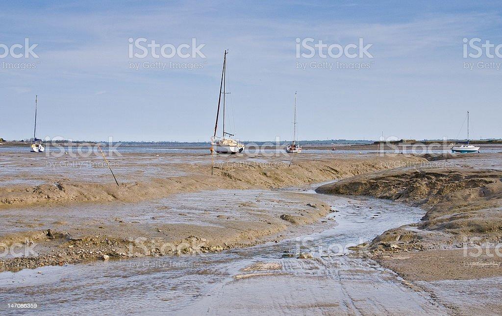 Haybridge at low tide stock photo