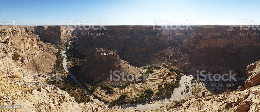 Hayd Al Jazeel village, Hadramout, Yemen royalty-free stock photo