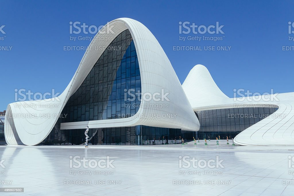 Haydar Aliyev Cultural Centre stock photo