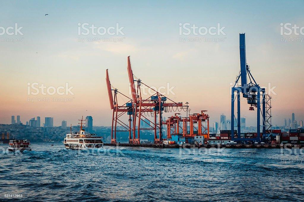 Haydarpasa Port stock photo