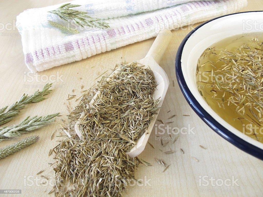 Hayflower bath stock photo