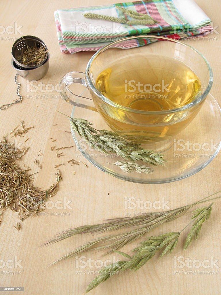 Hayflower tea stock photo