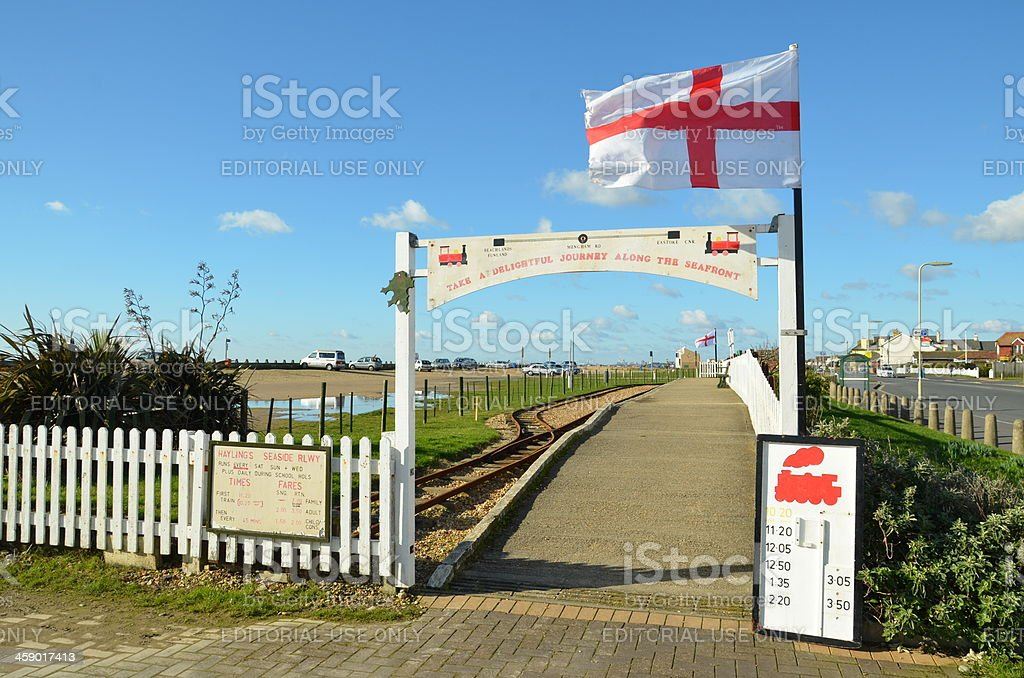 Hayling Island Train Station royalty-free stock photo